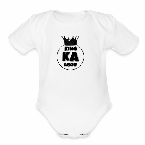 king abou merch - Organic Short Sleeve Baby Bodysuit