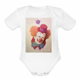 Old Clown Full - Short Sleeve Baby Bodysuit