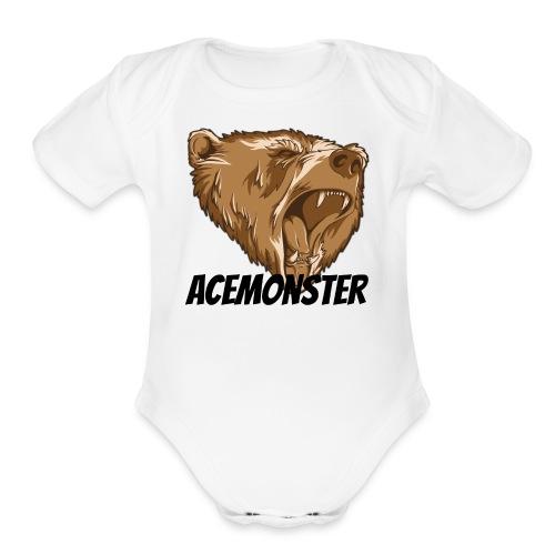 Acemonster - Organic Short Sleeve Baby Bodysuit