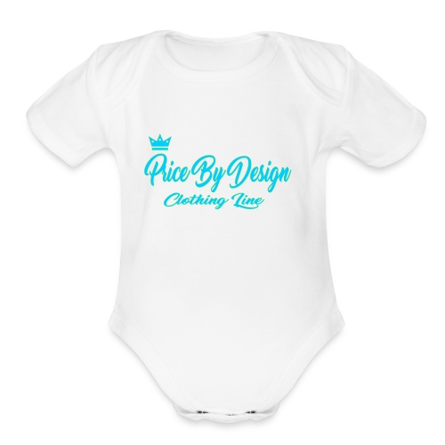 Price By Design Logo - Organic Short Sleeve Baby Bodysuit