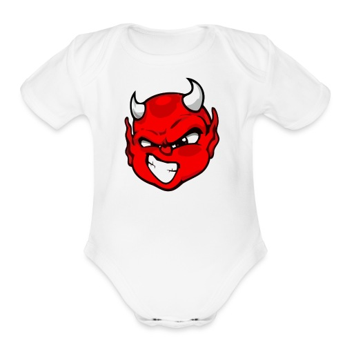 Rebelleart devil - Organic Short Sleeve Baby Bodysuit
