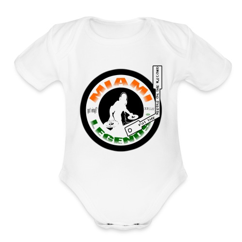 MIAMI LEGENDS GOT VINYL - Organic Short Sleeve Baby Bodysuit