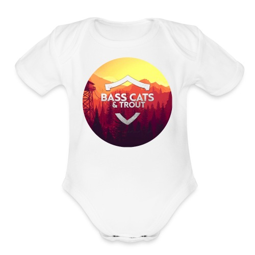 Bass Cats And Trout - Organic Short Sleeve Baby Bodysuit
