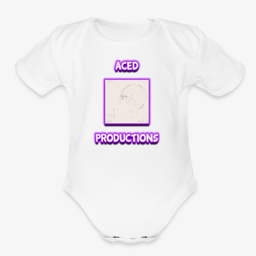 AceD Productions Purple Logo - Organic Short Sleeve Baby Bodysuit