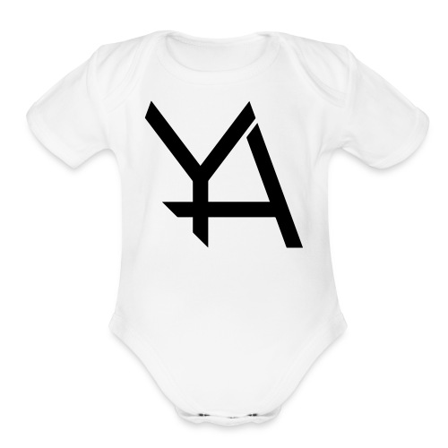 Young Adamant Black Logo - Organic Short Sleeve Baby Bodysuit