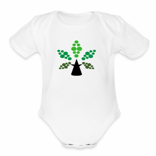 Tri City TriChomes FINAL LOGO 645AM 1 - Organic Short Sleeve Baby Bodysuit