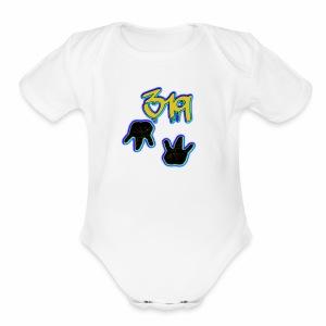 319 Gangg - Short Sleeve Baby Bodysuit
