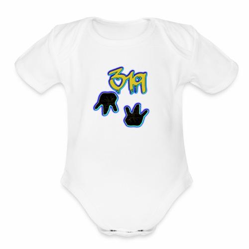 319 Gangg - Organic Short Sleeve Baby Bodysuit