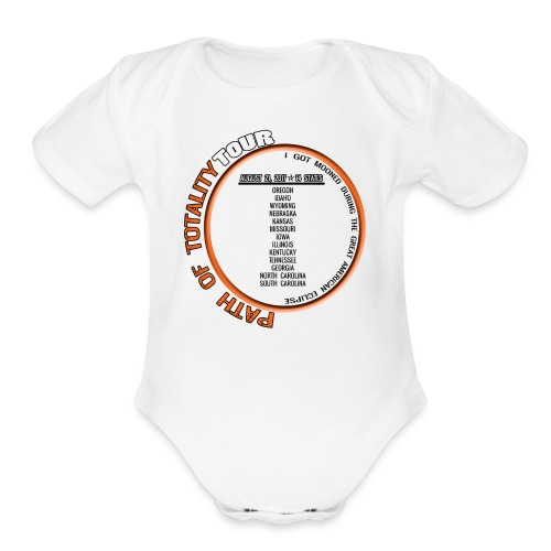 Path of Totality Light - Organic Short Sleeve Baby Bodysuit