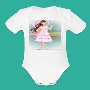 Samantha the Fairy - Short Sleeve Baby Bodysuit