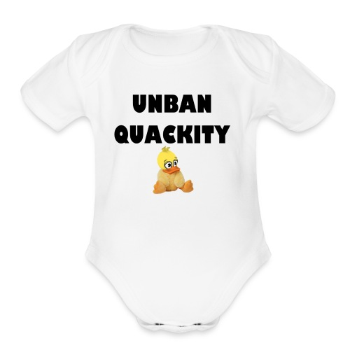UNBAN QUACKITY - Organic Short Sleeve Baby Bodysuit