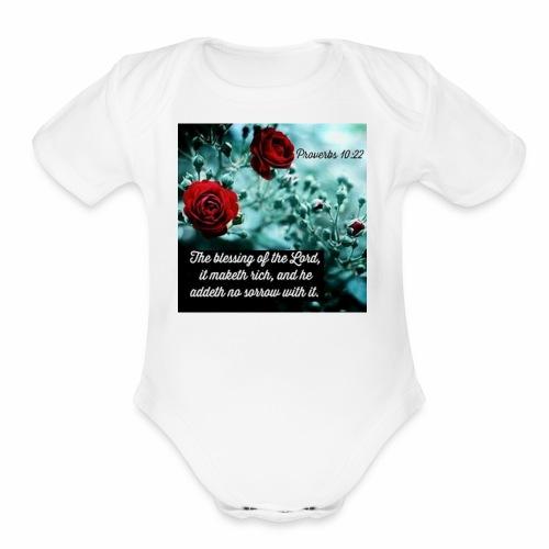 Proverbs 10:22 - Organic Short Sleeve Baby Bodysuit