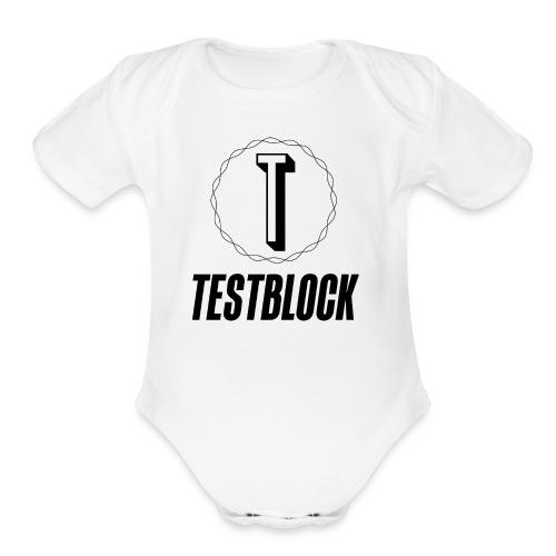 dark logo transparent background - Organic Short Sleeve Baby Bodysuit