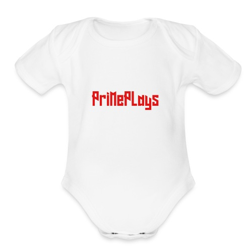 PriMePlays Official First T-Shirt - Organic Short Sleeve Baby Bodysuit