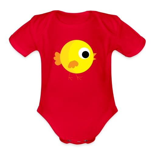 HENNYTHEPENNY1 01 - Organic Short Sleeve Baby Bodysuit
