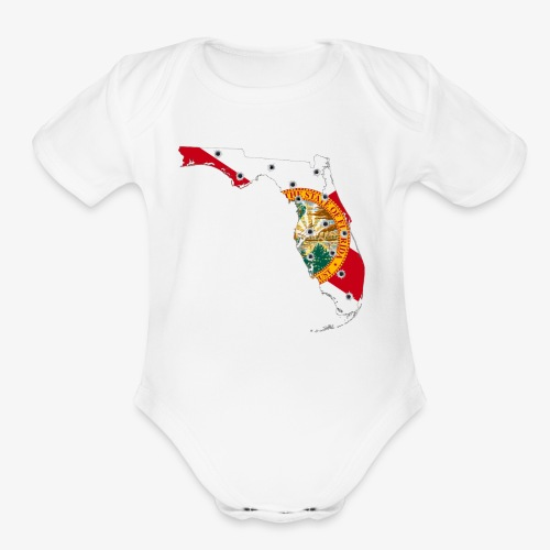 FLORIDA - Organic Short Sleeve Baby Bodysuit