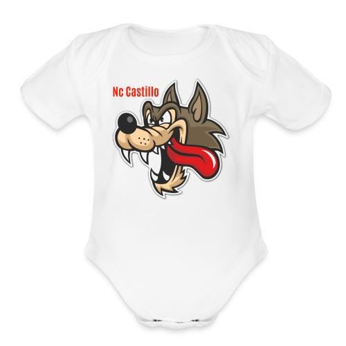Wolf - Organic Short Sleeve Baby Bodysuit