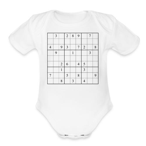 Sudoku - Organic Short Sleeve Baby Bodysuit