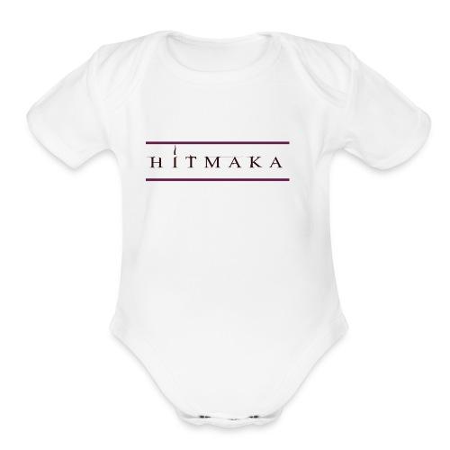 HIT MAKA - Organic Short Sleeve Baby Bodysuit