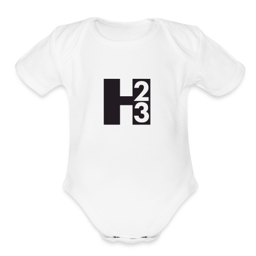 H23 Logo - Organic Short Sleeve Baby Bodysuit