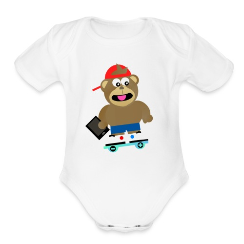 KINDLEY - Organic Short Sleeve Baby Bodysuit