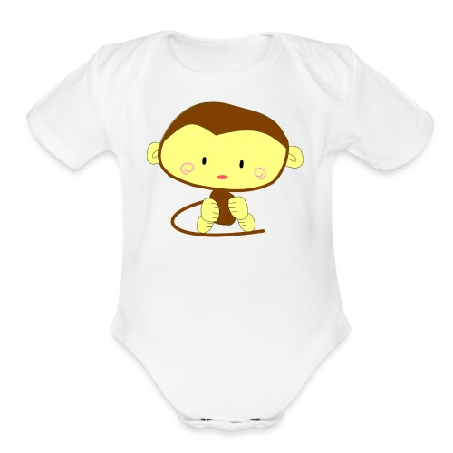 monkey 303612 1280 - Organic Short Sleeve Baby Bodysuit