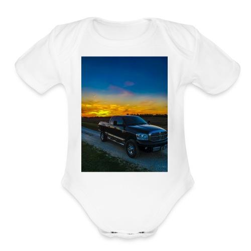 Ram 2500 Sunset - Organic Short Sleeve Baby Bodysuit