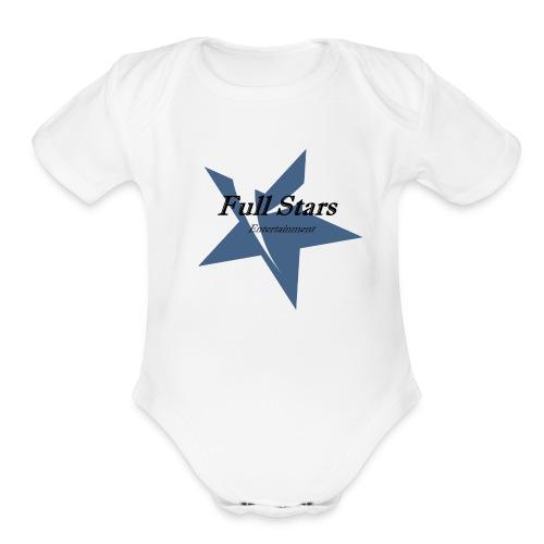 Full Stars - Organic Short Sleeve Baby Bodysuit