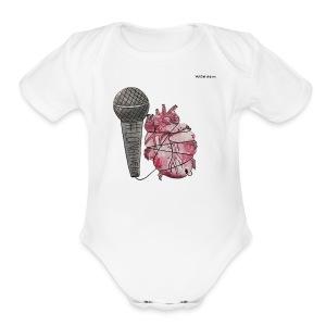 LONGLIVEPOP - Short Sleeve Baby Bodysuit