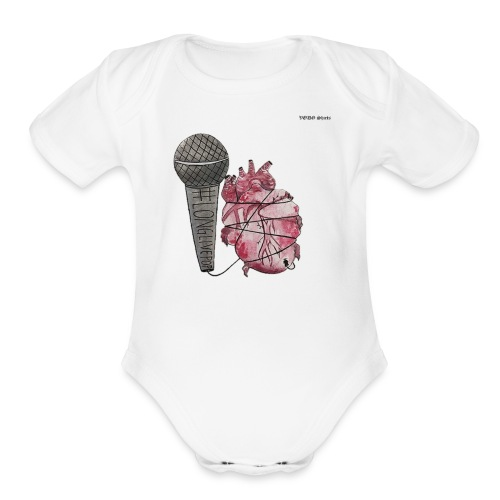 LONGLIVEPOP - Organic Short Sleeve Baby Bodysuit
