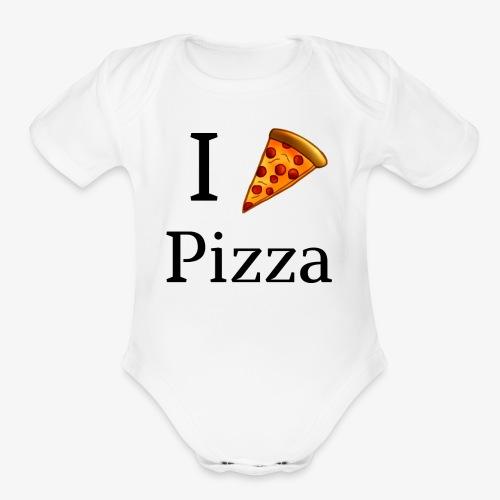 I Heart Pizza - Organic Short Sleeve Baby Bodysuit