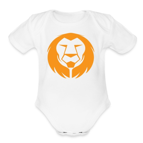 RBRT Lion - Organic Short Sleeve Baby Bodysuit