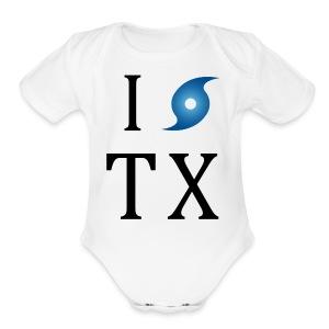 I Hurricane Texas - Short Sleeve Baby Bodysuit