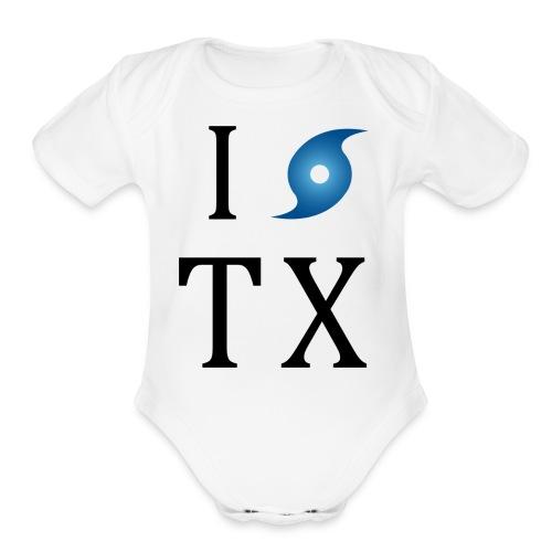 I Hurricane Texas - Organic Short Sleeve Baby Bodysuit