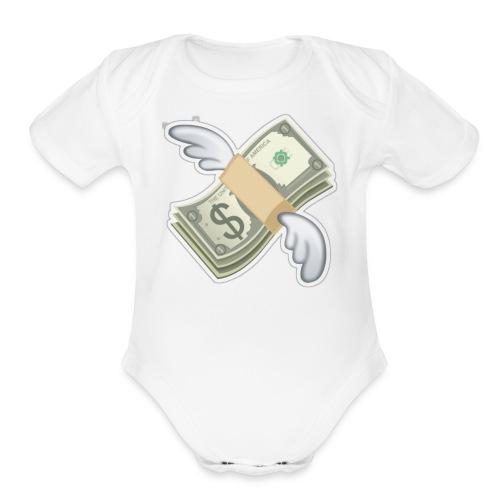 my dream - Organic Short Sleeve Baby Bodysuit
