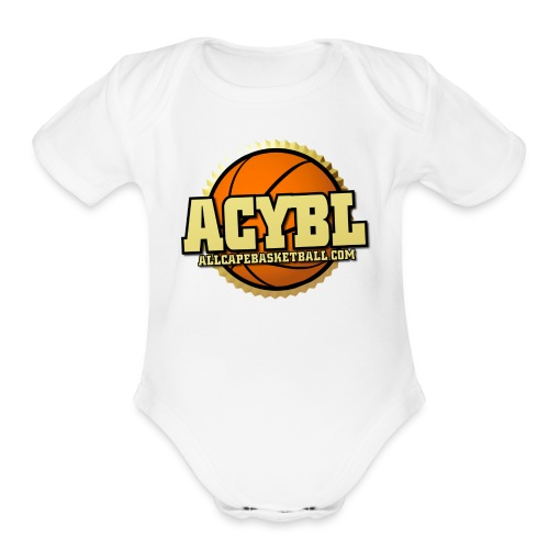 ACYBL ALL CAPE YOUTH BASKETBALL LEAGUE - Organic Short Sleeve Baby Bodysuit