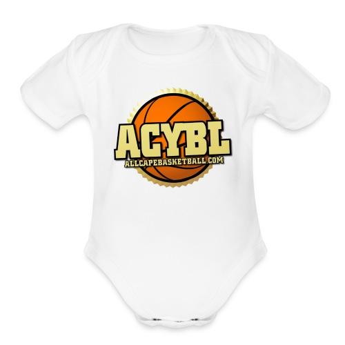 ACYBL ALL CAPE YOUTH BASKETBALL LEAGUE - Organic Short Sleeve Baby Bodysuit