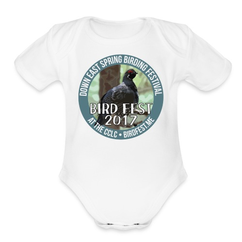 Down East Bird Fest 2017 - Organic Short Sleeve Baby Bodysuit