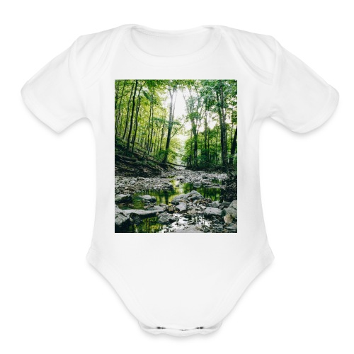 Forest Reflections - Organic Short Sleeve Baby Bodysuit