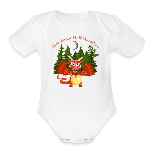 New Jersey Devil Running Tee - Organic Short Sleeve Baby Bodysuit