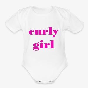 Curly Girl - Short Sleeve Baby Bodysuit