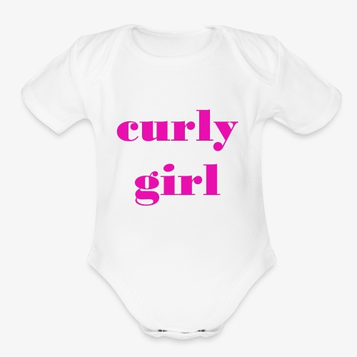 Curly Girl - Organic Short Sleeve Baby Bodysuit