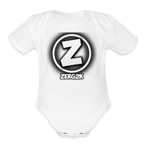Zerg Logo - Organic Short Sleeve Baby Bodysuit