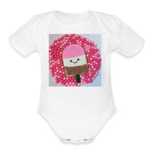 Kawaii ice cream cookies - Short Sleeve Baby Bodysuit
