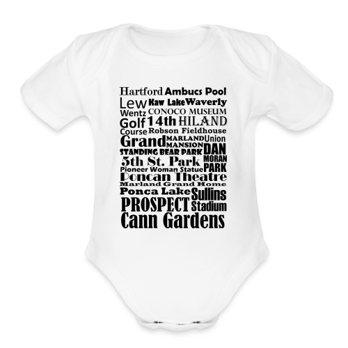 Places to Be in Ponca City - Organic Short Sleeve Baby Bodysuit