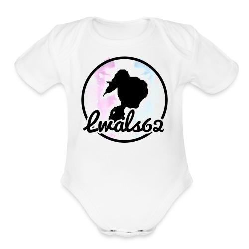 Lwals62 symbol - Organic Short Sleeve Baby Bodysuit