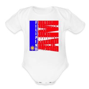 I AM FILIPINO colored - Short Sleeve Baby Bodysuit
