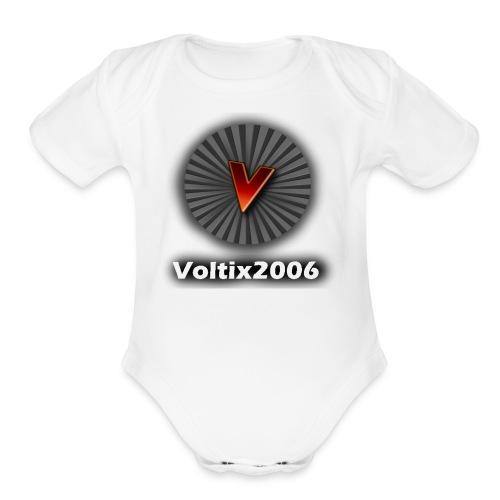 voltix2006 Shirt Logo - Organic Short Sleeve Baby Bodysuit