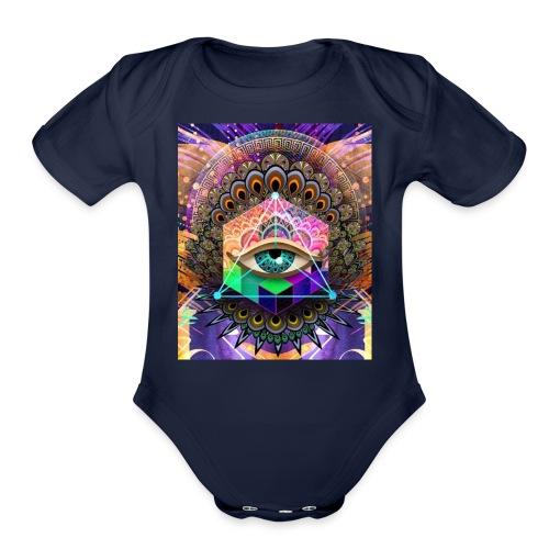 ruth bear - Organic Short Sleeve Baby Bodysuit