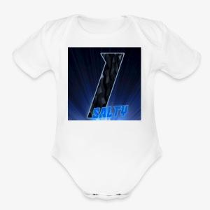 InfiniteSalty logo - Short Sleeve Baby Bodysuit